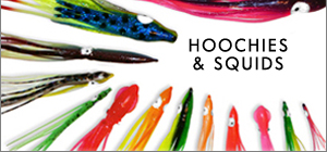 Supertackle salmon, halibut and Kokanee fishing hoochies for sale