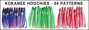 kokanee hoochies for fishing