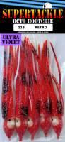 "4.75"" Supertackle UV #228 RETRO salmon hoochies 5/pk"