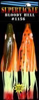 "7.5"" BLOODY HELL 1156 Bailey Boo - Double Skirt - Halibut glow hoochies 2pk"