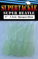 "3"" - Milky White Glow Super Beatle fishing squid"