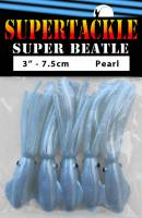 "3"" - Pearl White Super Beatle fishing squid"
