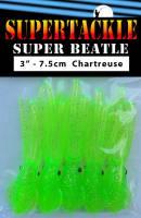 "3"" - Chartreuse Glow  Super Beatle fishing squid"