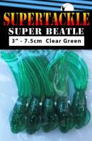 "3"" - Dark Green  Super Beatle fishing squid"