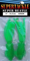 "4"" - Glow Green Super Beatle fishing squid"