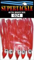 024 red hoochies 3 inch