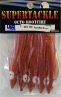 Supertackle red brown hoochies.