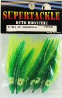 Supertackle green over chartreuse 3 inch hoochie
