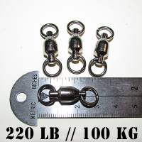 Ball bearing fishing swivels, For Halibut, Tuna & big game, Supertackle, YM-1804, Size #7, 200 pound