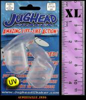 "1.5"" XL Jughead Shaker - UV CLEAR bait & lure heads 2/pk"