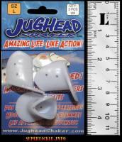 Jughead bait heads large size white UV