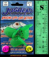 Jughead green glow and ultra violet bait heads for salmon fishing