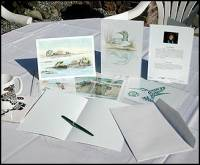 Examples of art cards,