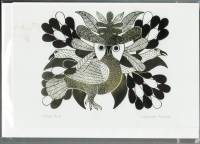 Kenojuak Ashevak - Flower Bird art card c3014