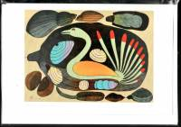 Kenojuak Ashevak - Shoreline Sentenal art card POD1005