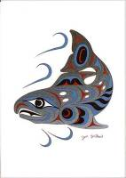 Joe Wilson - Spawning Salmon art card ac158