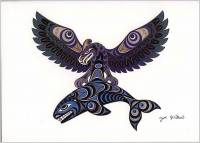 Joe Wilson - Thunderbird and Killer Whale art card ac146