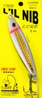 Casper Gold Lil Nib fishing jig lure packaged.