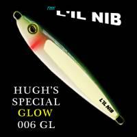 Hugh's Special Glow Lil Nib fishing jig for salmon and bottom fish.