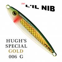 Hugh's Special Gold tape on green with white belly and a tone of chartreuse profile.
