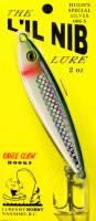 L'il Nib 2 oz HUGH'S SPECIAL SILVER Slack tide, lead fishing jig