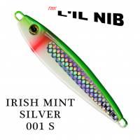 Irish Mint Silver decal salmon jigging lures by Lil Nib