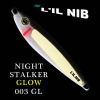 Night Stalker Glow in the dark black and white Lil Nib. Salmon lure and also great for bottom fishing.