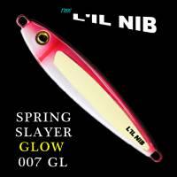 Spring Slayer Glow Lil Nib salmon jigging lures profile.