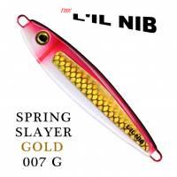 Spring Slayer Gold Lil Nib fishing lure profile.