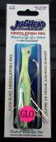"4.5"" Jughead NEEDLEFISH Shaker DOUBLE GLOW UV Salmon Lure"