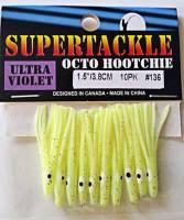 "1.5"" - 136 Mellow Yellow kokanee trout fishing hoochies lures"