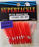 "1.5"" - 077 Cherry Bomb kokanee trout fishing hoochies lures"