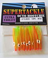 "1.5"" - 104 Gorange kokanee trout fishing hoochies lures"