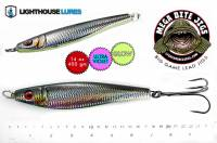 Lighthouse 14 oz MYLAR BLACK HERRING Mega Bite big game lead jig