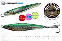 Lighthouse 14 oz MYLAR GREEN HERRING Mega Bite big game lead jig