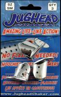"1"" sm Jughead Shaker - CHROME bait & lure heads 3/pk"