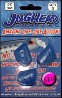 Jughead glow blue bait head