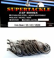 4/0 Salmon fishing hooks, black nickel, 25 per pack