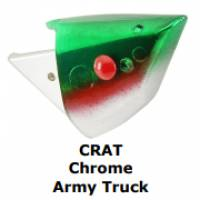 Chrome Army Truck salmon fishing bait head for anchovy. Salmon fishing tackle.