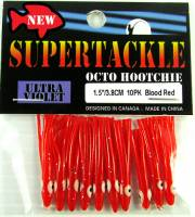 "1.5"" - BLOOD RED kokanee trout fishing hoochies lures"